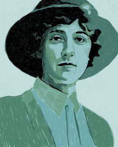 Portrait of Agatha Christi – Digital Illustration 2019 was an English writer known for her detective novels and short story collections, particularly those revolving around fictional detectives Hercule Poirot and Miss Marple.