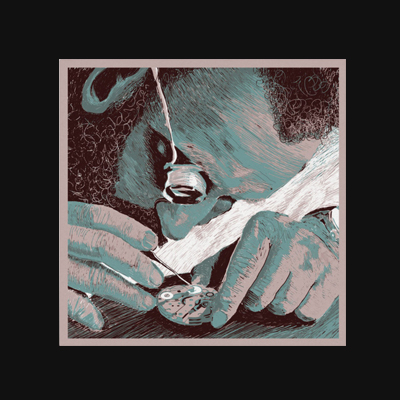 Uhrwerk – Digital Illustration. The second Album Cover for the German rap artist group PrisonKit.