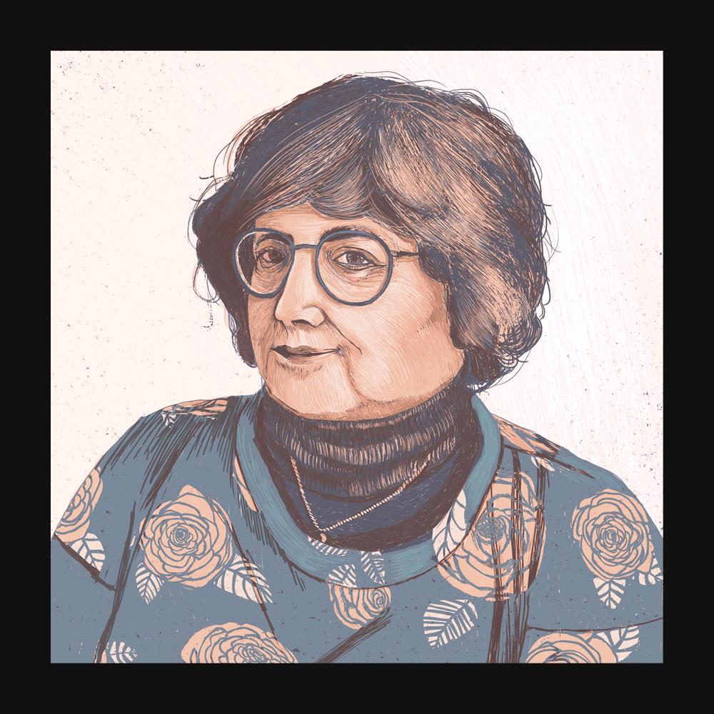 Mother Portrait – Digital Illustration. Portrait of a Women
